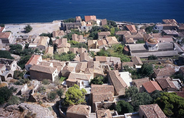 Downtown of Monemvasia from top of the rock | @ Ingo Mehling/WikiCommons