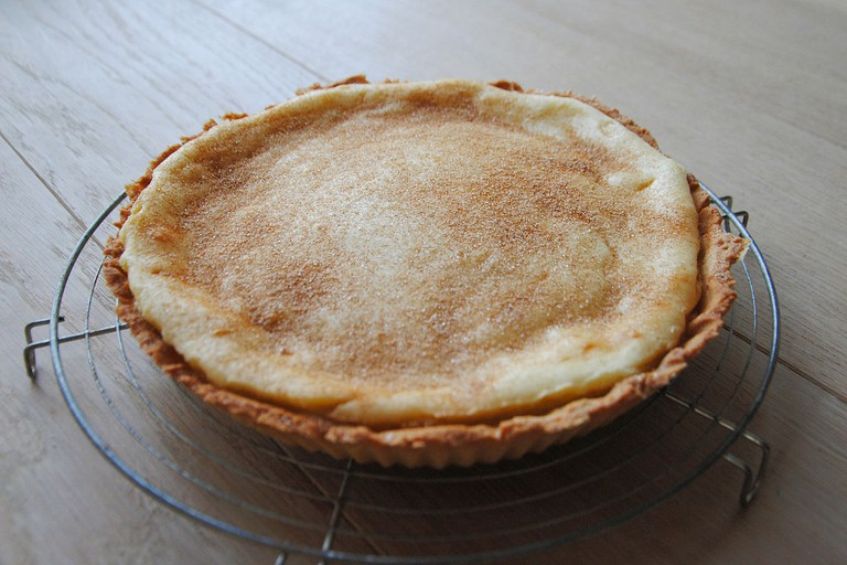 Traditional milk tart – a South African custard-like pie