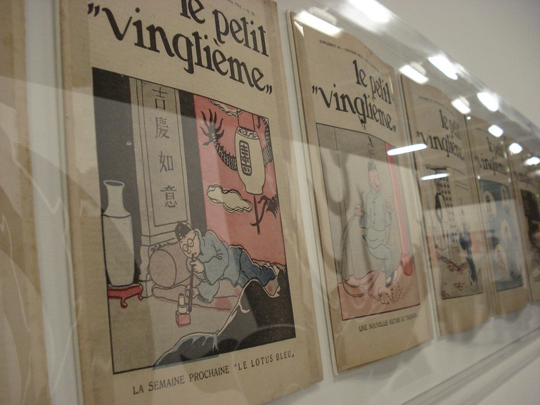 Tintin first appeared in the pages of Le Petit Vingtième, the youth supplement to conservative newspaper Le Vingtième Ciècle, when Hergé was just 21 years old | © Marilane Borges/Flickr