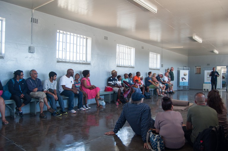 Visitors can take a tour of Robben Island Prison