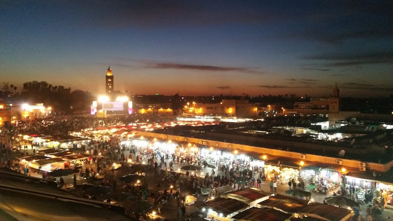 Dining in Jemaa el Fna