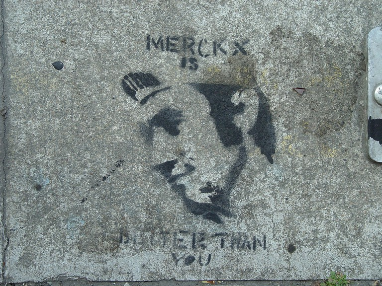 Even San Francisco sidewalks know that Merckx is 'better than you'