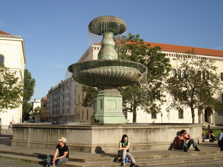 Fountain in front of the University's main building