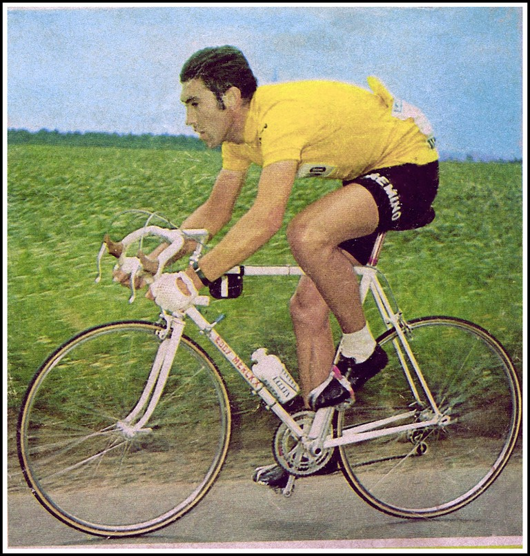 Eddy Merck in the yellow jersey he would wear during the Tour de France 92 times