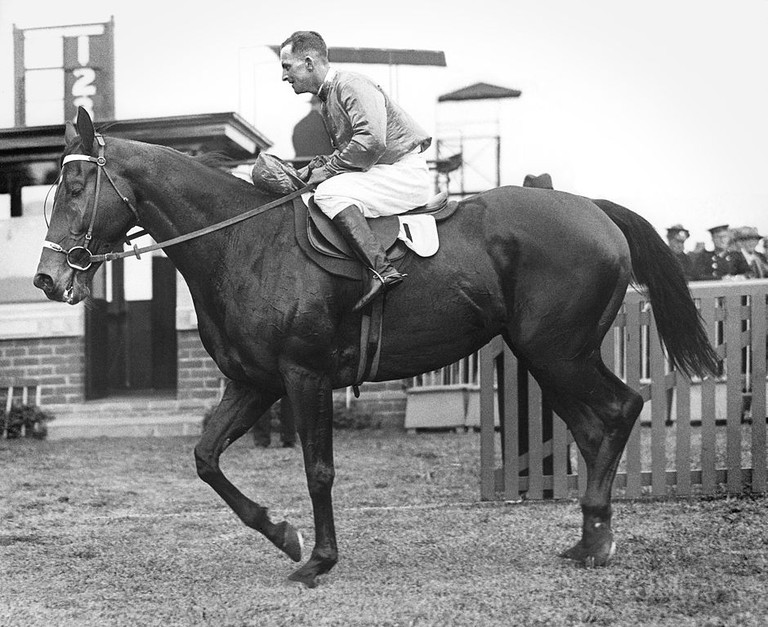Amounis 1930 VATC Futurity Stakes Jockey Harold Jones Trainer Frank McGrath © Les Haigh/WikimediaCommons