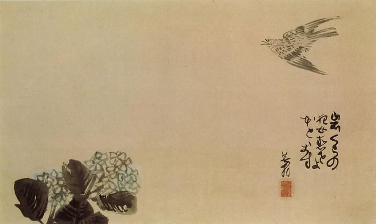 One of Yosa Buson's haiga | © Yosa Buson/個人蔵/WikiCommons