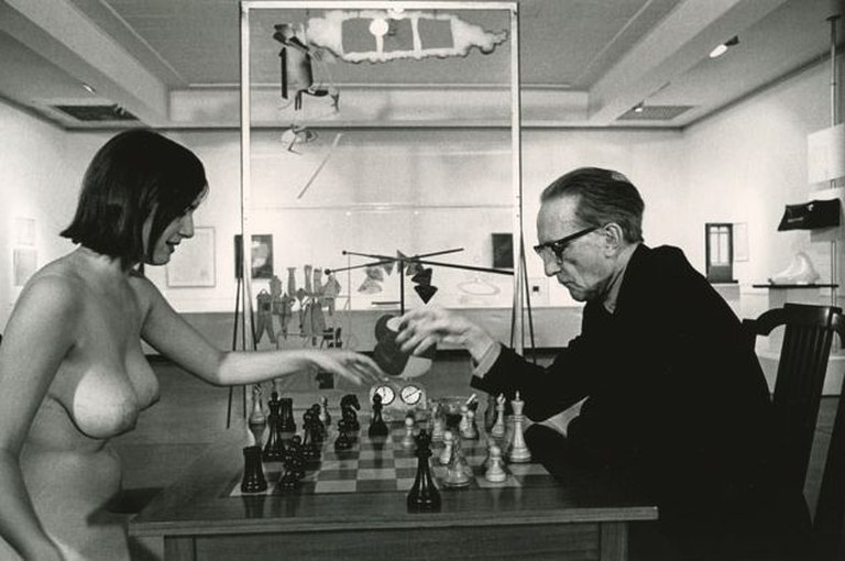 Eve Babitz & Marcel Duchamp