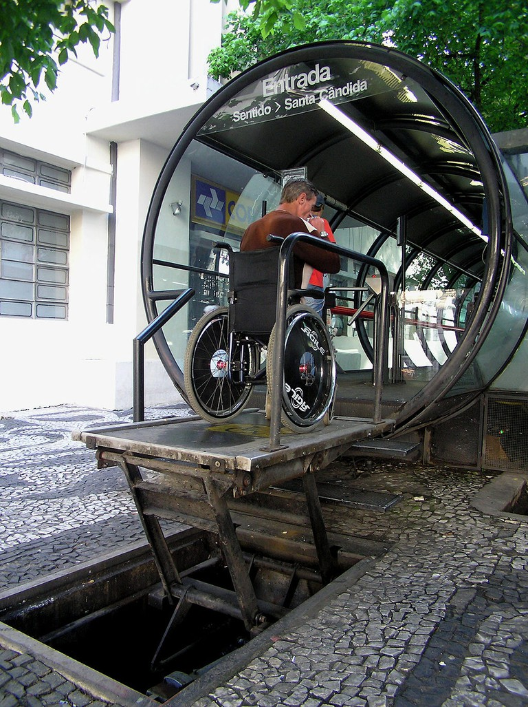 Disability access to a bus stop in Brazil