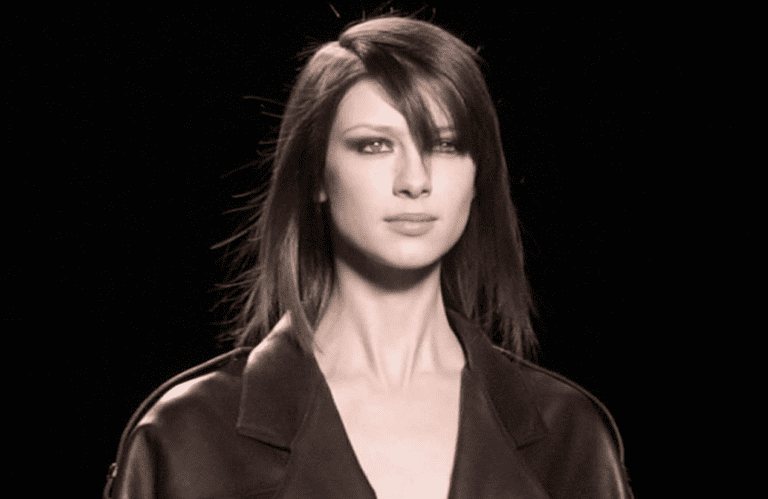 Balfe on the runway for Michael Kors in 2003