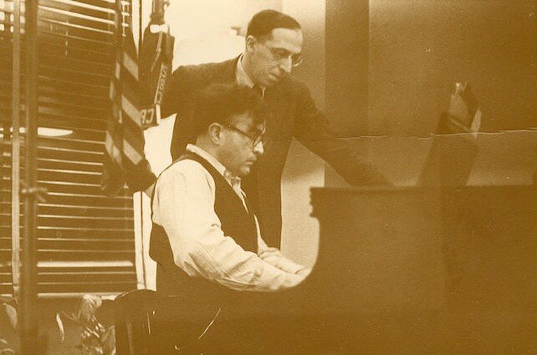 Schaal, E. Aaron Copland and Carlos Chávez. [Image] Retrieved from the Library of Congress, https://www.loc.gov/item/copland.phot0014/   © The Library of Congress
