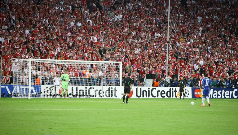 No amount of training can replicate the pressure of a Champions League Final penalty kick. Didier Drogba in 2012