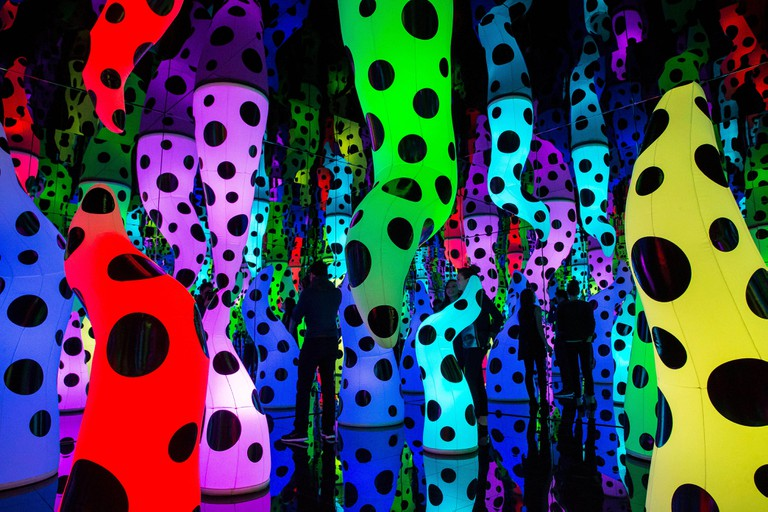 New York, USA. 4th December 2013. David Zwirner presents  I Who Have Arrived In Heaven, the gallery's inaugural exhibition with Yayoi Kusama which spans the three locations of the gallery. The exhibition features twenty seven new large scale paintings alo
