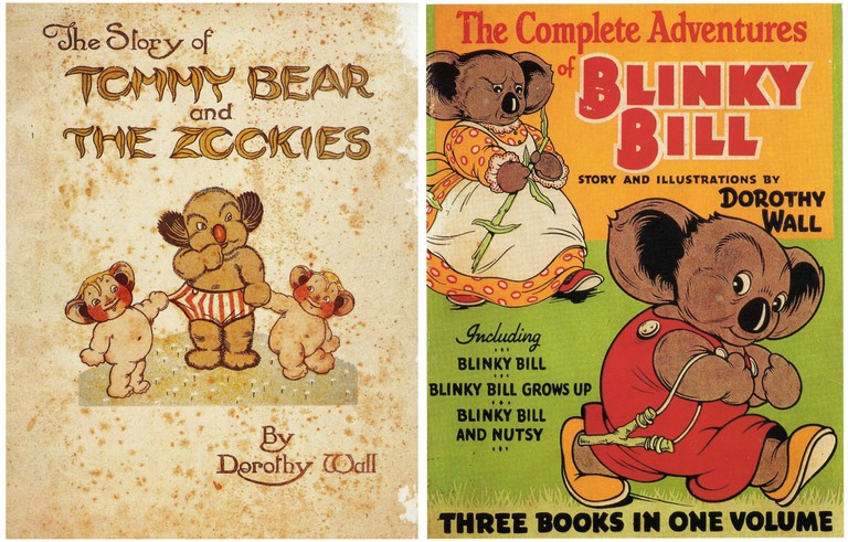 The Story of Tommy Bear and the Zookies - Dorothy Wall | © Paul K / Flickr // The Complete Adventures of Blinky Bill (Dustjacket), 1939 by Dorothy Wall | © Paul K / Flickr