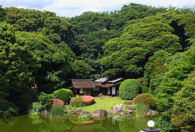 Teahouses tucked away in the Tokyo National Museum Garden