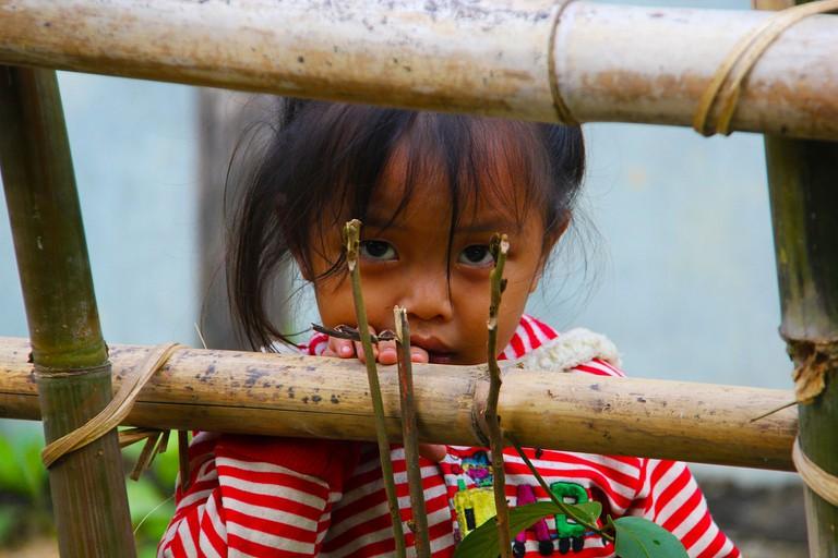 Orphan girl in Laos