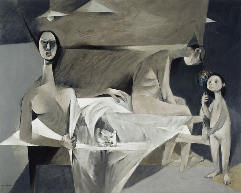 Louis le Brocquy, 'A Family', 1951, oil on canvas, 147 x 185 cm, National Gallery of Ireland