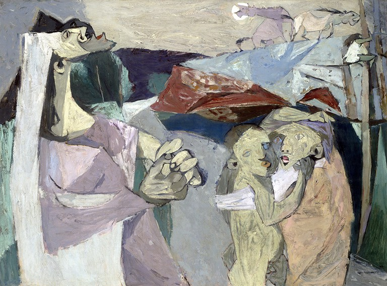 Louis le Brocquy, 'Fearful World', 1948, oil on gesso-primed hardboard, 91 x 122 cm