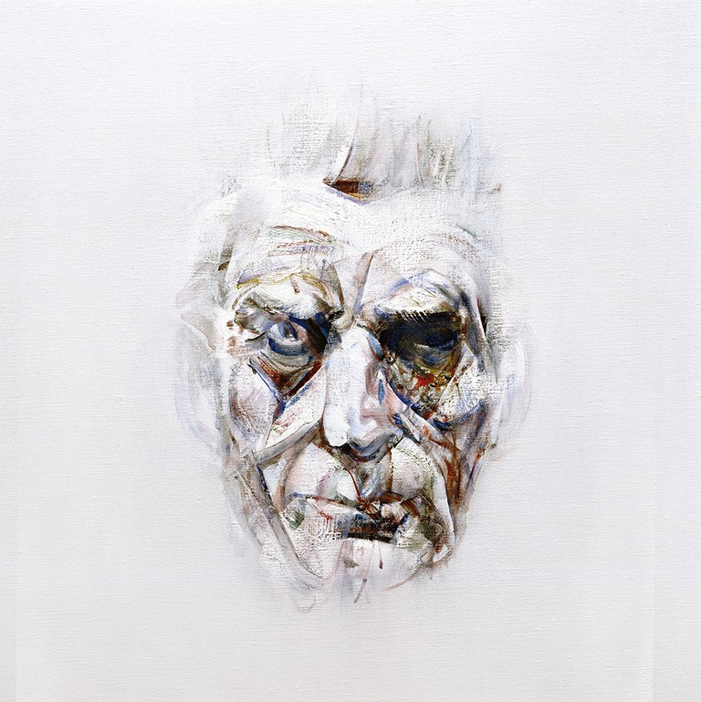 Louis le Brocquy, 'Image of Samuel Beckett' (detail), 1979, oil on canvas, 80 x 80 cm