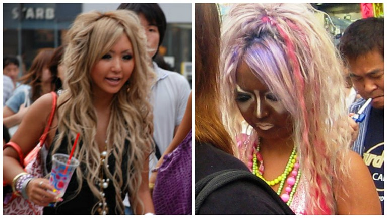 Left: ganguro gal | © MartaJobani/WikiCommons, cropped from original / Right: yamanba gal | © alex de carvalho/WikiCommons