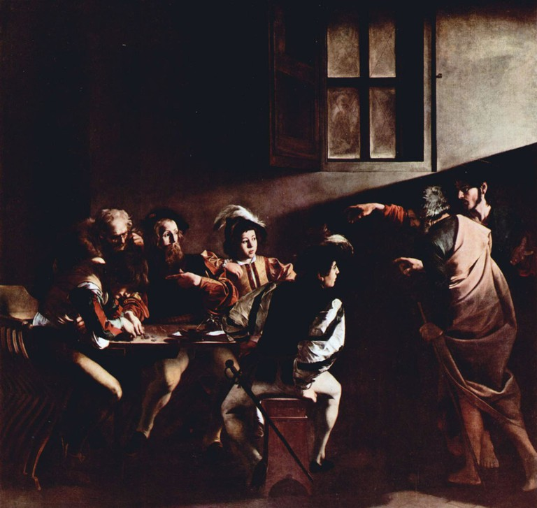 Caravaggio's The Calling of St Matthew | © WikiCommons