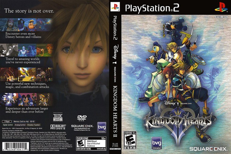 Kingdom Hearts II cover art and back for the PS2 version | © Square-Enix, scanned by Dvd Box
