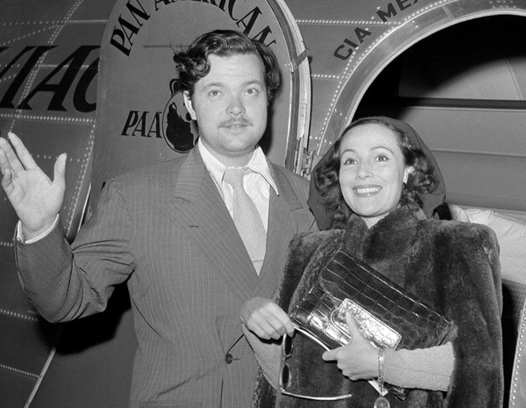 Dolores with Orson Welles