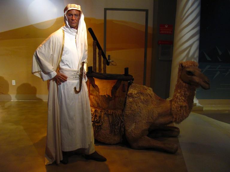 Peter O'Toole Lawrence of Arabia Figure at Madame Tussauds Hollywood l © Loren Javier
