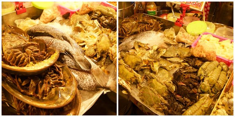 Seafood At Rod Fai Market