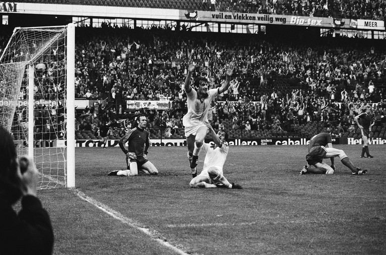 Ray Clarke after scoring a goal in 1979