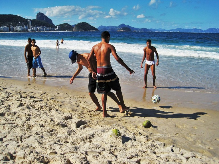 football on Copacabana beach | public domain/Pixabay