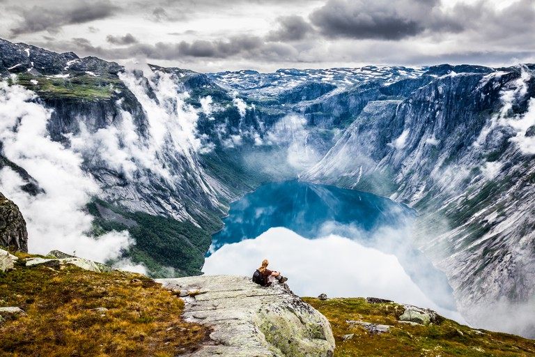 On the way to Trolltunga, Norway