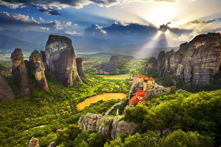 The Meteora area is on UNESCO World Heritage List since 1988