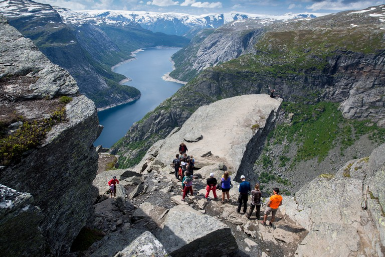 Queue at Trolltunga, Norway