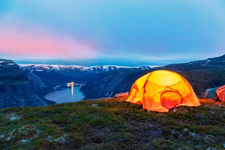 Camping at Trolltunga, Norway