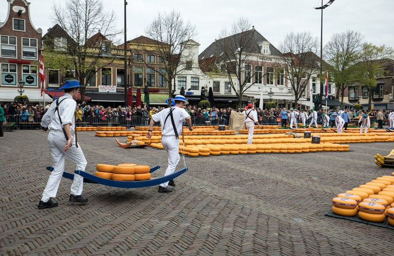 Dutch cheese market in Alkmaar, The Netherlands