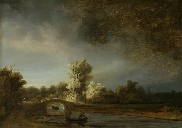 Rembrandt van Rijn: Landschap Met Stenen Brug, 1638 | © Rijksmuseum, Amsterdam