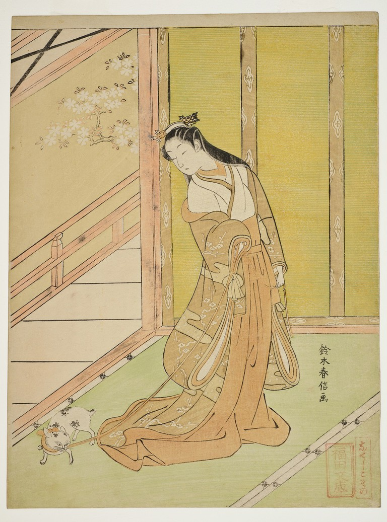 The Third Princess from The Tale of Genji | Suzuki Harunobu in the 1700s/lifted from WikiCommons