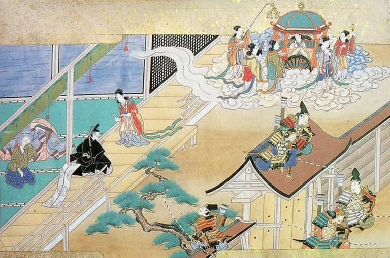 Princess Kaguya returns to the Moon | © Tosa Hiromichi (1600)/WikiCommons