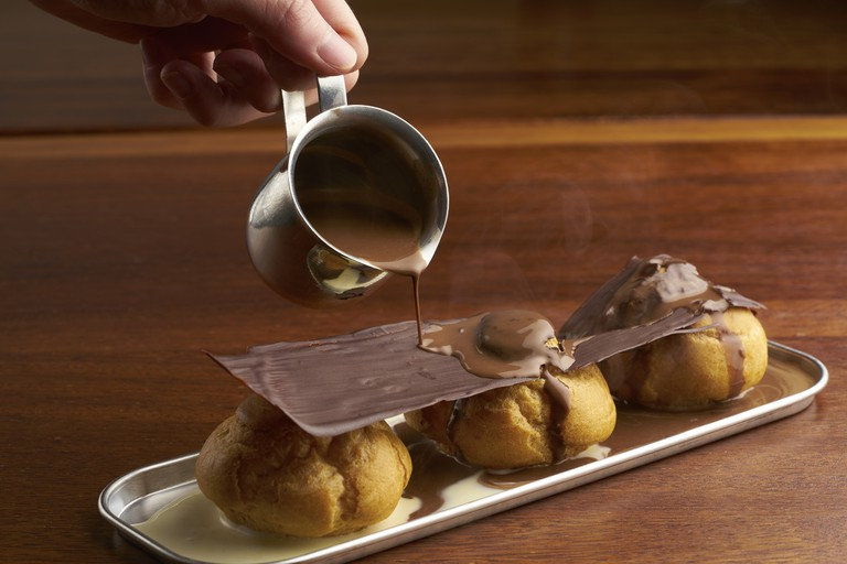 Chocolate Vanilla Profiteroles | Courtesy of Awfully Chocolate