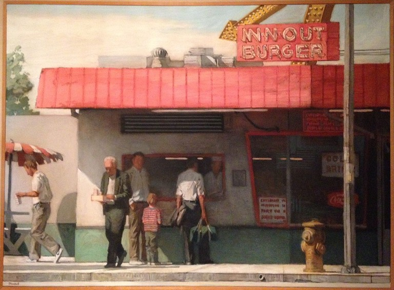 Richard Bunkall painting commissioned by Haenel family of In-N-Out Burger