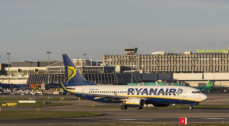 A Ryanair plane at Dublin Airport | © Greg Clarke/Flickr