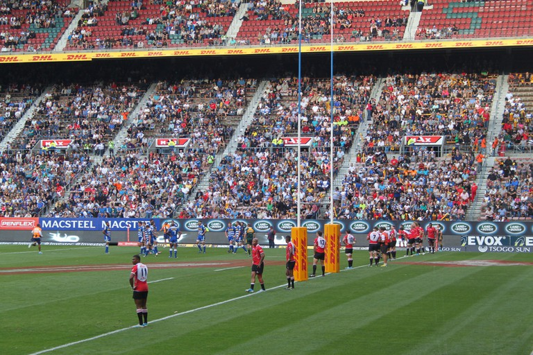 Rugby match at Newlands Rugby Stadium, Cape Town