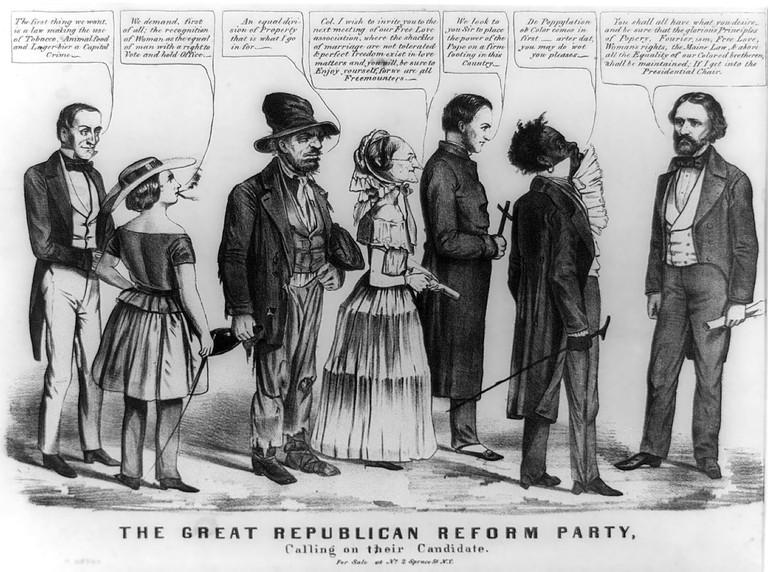 1856 Democratic editorial cartoon