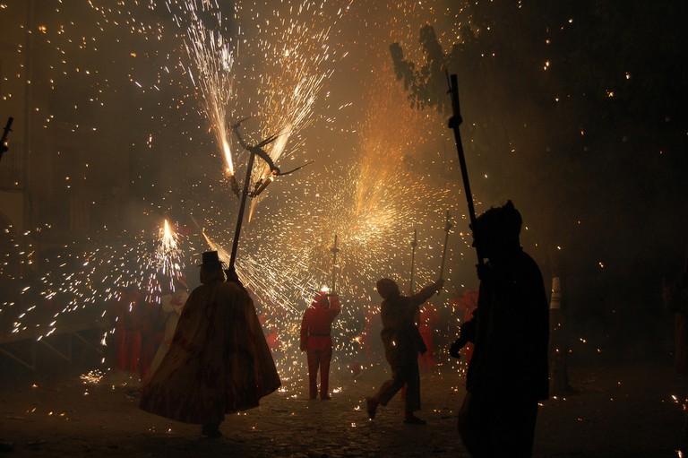 Correfoc at the Festa Maor de La Llacuna | © VRoig