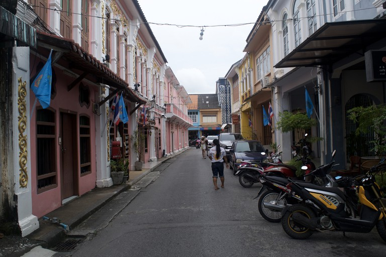 The pink street in Phuket Town