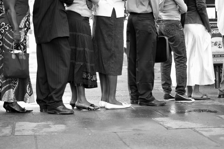 An orderly queue | ©Xiaojun Deng