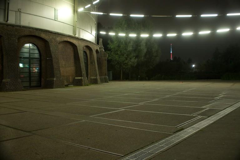 Westergasfabriek at night
