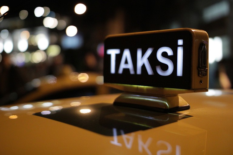Taxi Sign in Istanbul