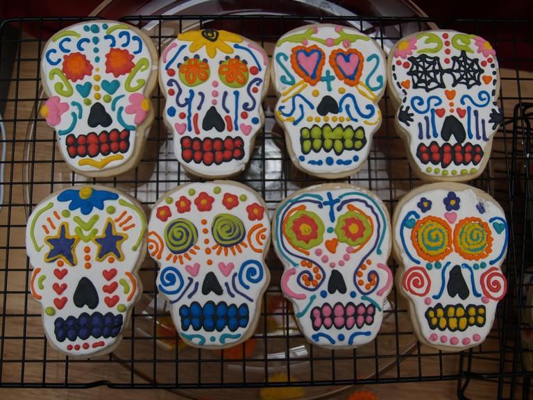 Sugar skull cookies | © nicole Danielson/Flickr