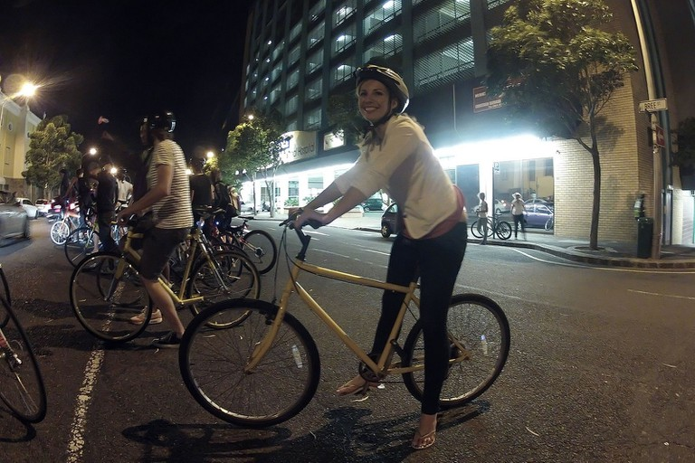 Night time cycling in the city